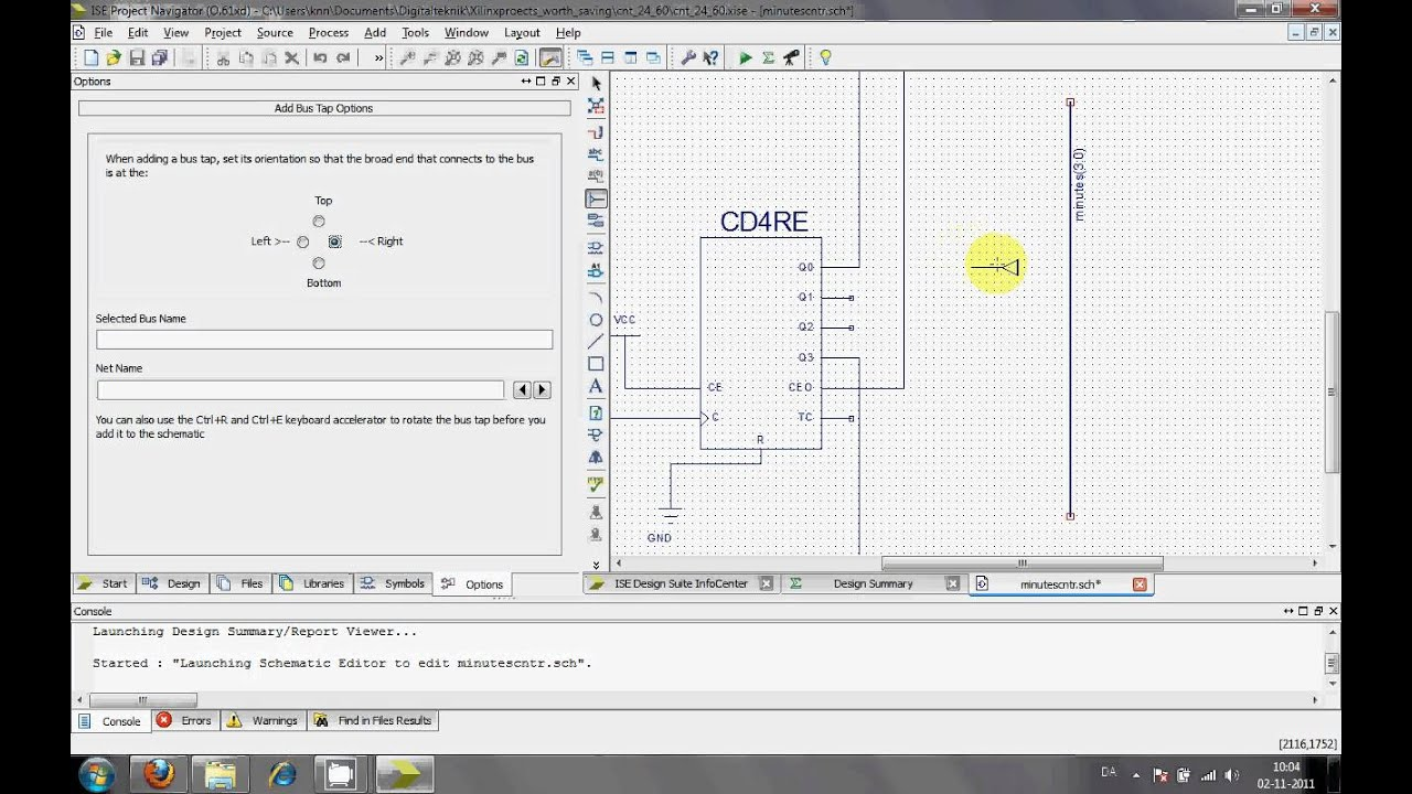 Use of Data Bus in Xilinx ISE Schematic Xilinx Schematic on