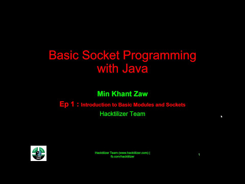 Module 01: Introduction to Basic Modules and Sockets ( Socket Programming with Java )