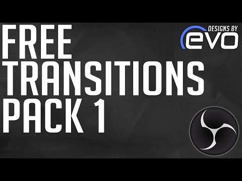 Download Free Glitch Stinger Transition Template For Obs