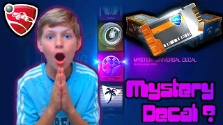 mystery decal crate opening   rocket league