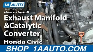 How To Install Replace Exhaust Manifold and Catalytic Converter 1996-2000 1.6L Honda Civic