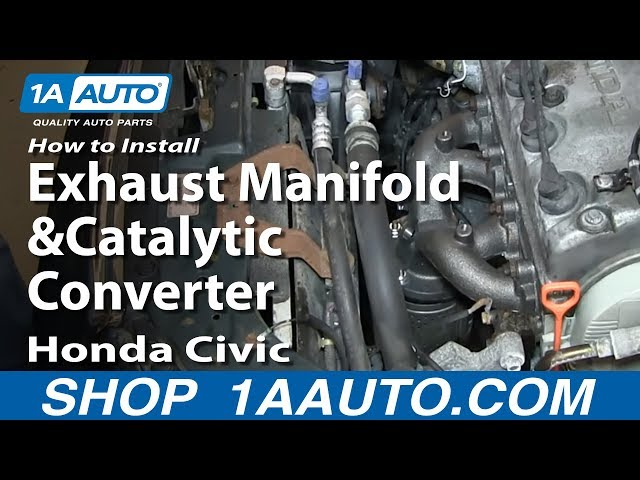 how to replace exhaust manifold with catalytic converter 96 00 honda civic
