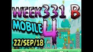 Angry Birds Friends Tournament Level 4 Week 331-B  MOBILE Highscore POWER-UP walkthrough