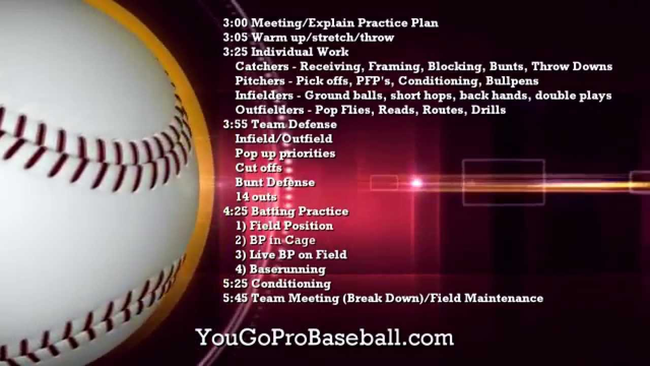 Practice Plans for Baseball - YouTube