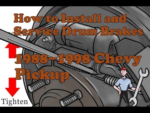 How to properly install and service drum brakes 1988-1998 chevy K1500 Silverado