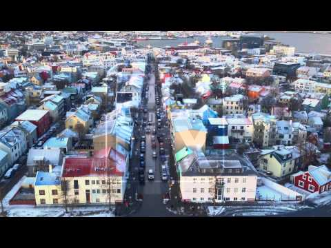 Reykjavik (Iceland) Town Centre from above