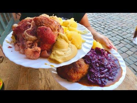 traditional-german-food-in-berlin-|-huge-eisbein-and-boulette-berlin-weisse-|-berlin-food