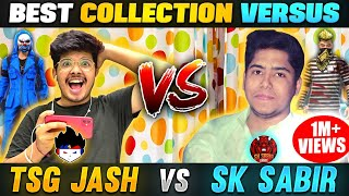 SK Sabir Bhai Vs TSG Jash Bundles Collection Versus || 10 Lakh ₹ Richest Account Of Garena Free Fire