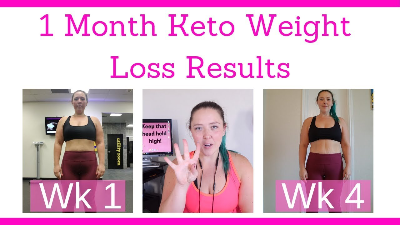 1 Month Keto Weight Loss Results Weekly Weigh In Youtube