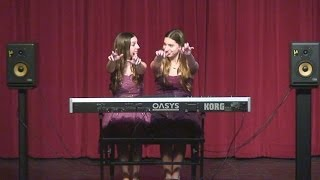 Benicia High School Talent Show - The Sparks Sisters Performing Amazing Piano Duet