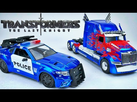 TRANSFORMERS THE LAST KNIGHT BARRICADE OPTIMUS PRIME AWESOME DIECAST TOY CAR VEHICLES FULL COLLECTIO