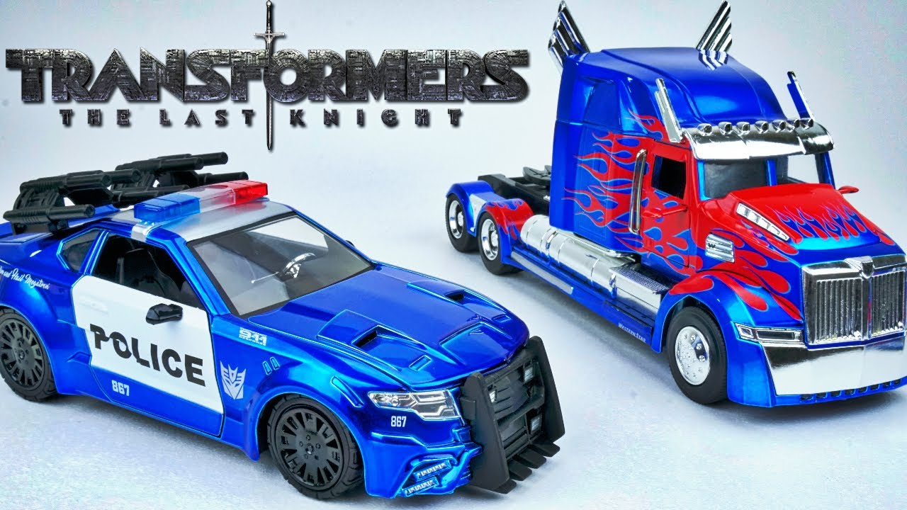 Transformers The Last Knight Barricade And Optimus Prime Jada Diecast Toys Collection