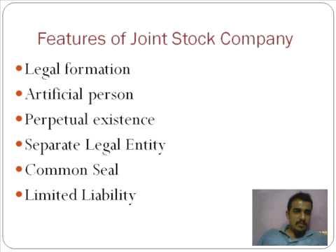 Joint Stock Companies Part 1 - Professor Vipin