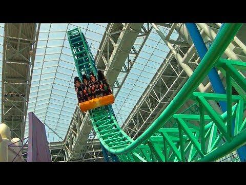 SpongeBob Roller Coaster POV! Rock Bottom Plunge - Nickelodeon Universe Mall of America