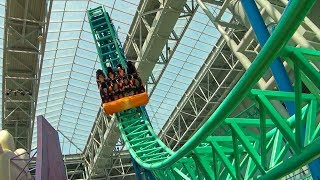 SpongeBob Roller Coaster POV! Rock Bottom Plunge - Nickelodeon Universe Mall of America