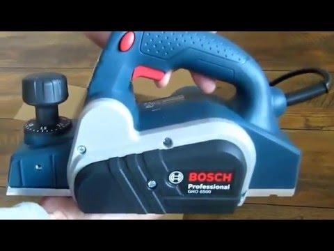 Видео обзор: Рубанок BOSCH GHO 6500