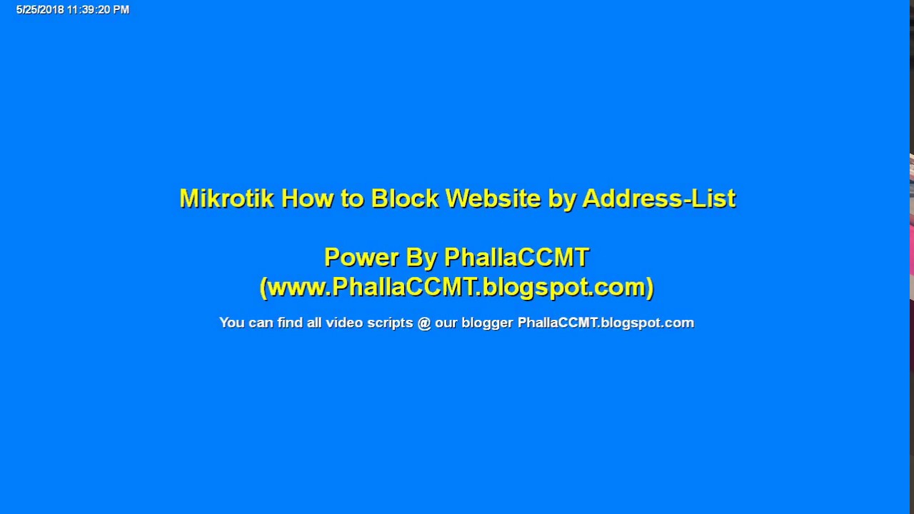 Mikrotik How to Block Website by Address List