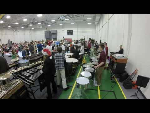 2016 King Philip Marching Band. Last Performance - Winter Pops Standstill. (Percussion Focus)