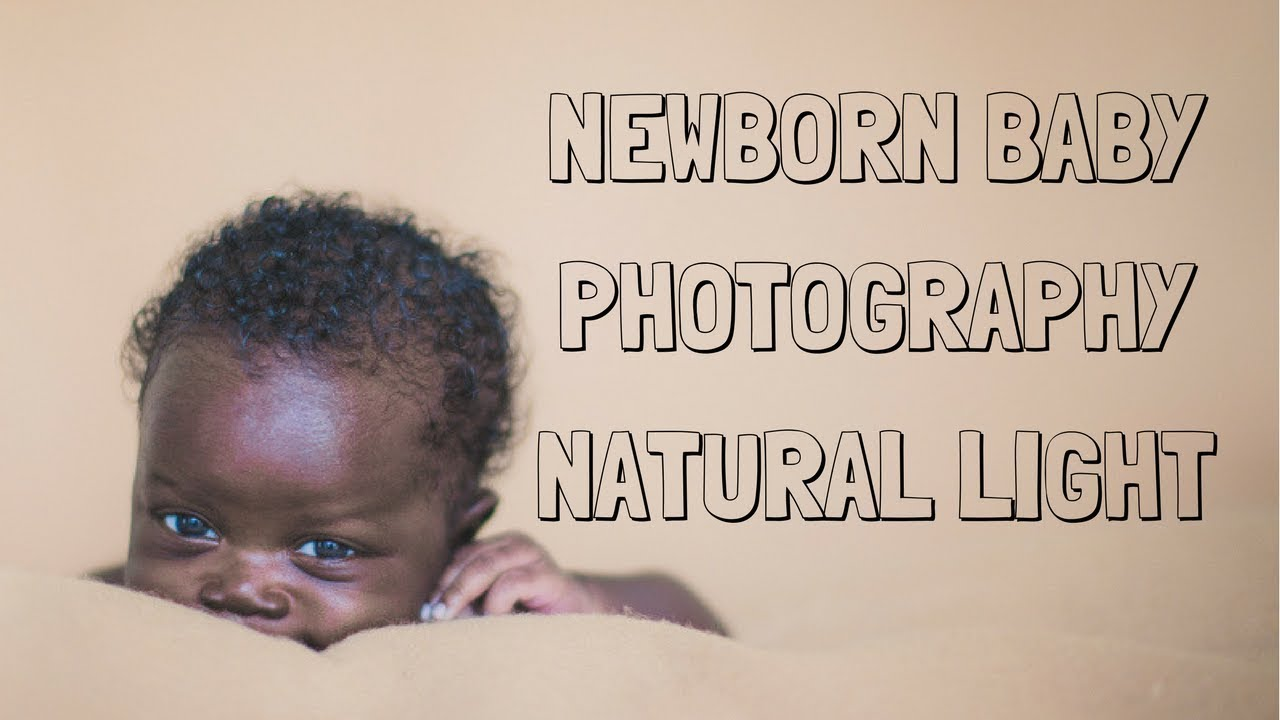 Home studio newborn black baby photography with natural light behind the scenes