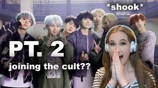 reacting to BTS for the first time pt. 2 (aka joining the cult??)