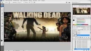 Как сделать фон для YouTube Adobe photoshop cs3 Урок №1