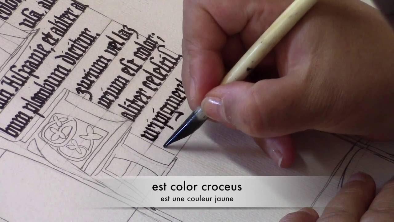 Lettrine Et Calligraphie