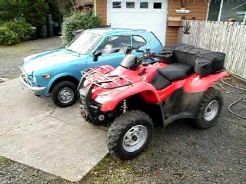 Honda 600 Coupe And Honda Rancher Atv Youtube
