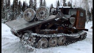 Лесозаготовка в России Как на самом деле... ТТ-4 в действии...