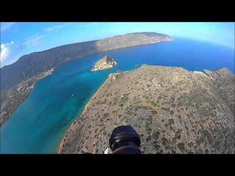 Spinalonga Crete-flying over Spinalonga island HD