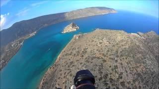 Spinalonga Crete-flying over Spinalonga island HD