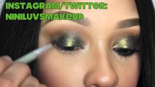 GLITTERY GREEN SMOKEY EYES: NINILUVSMAKEUP Thumbnail