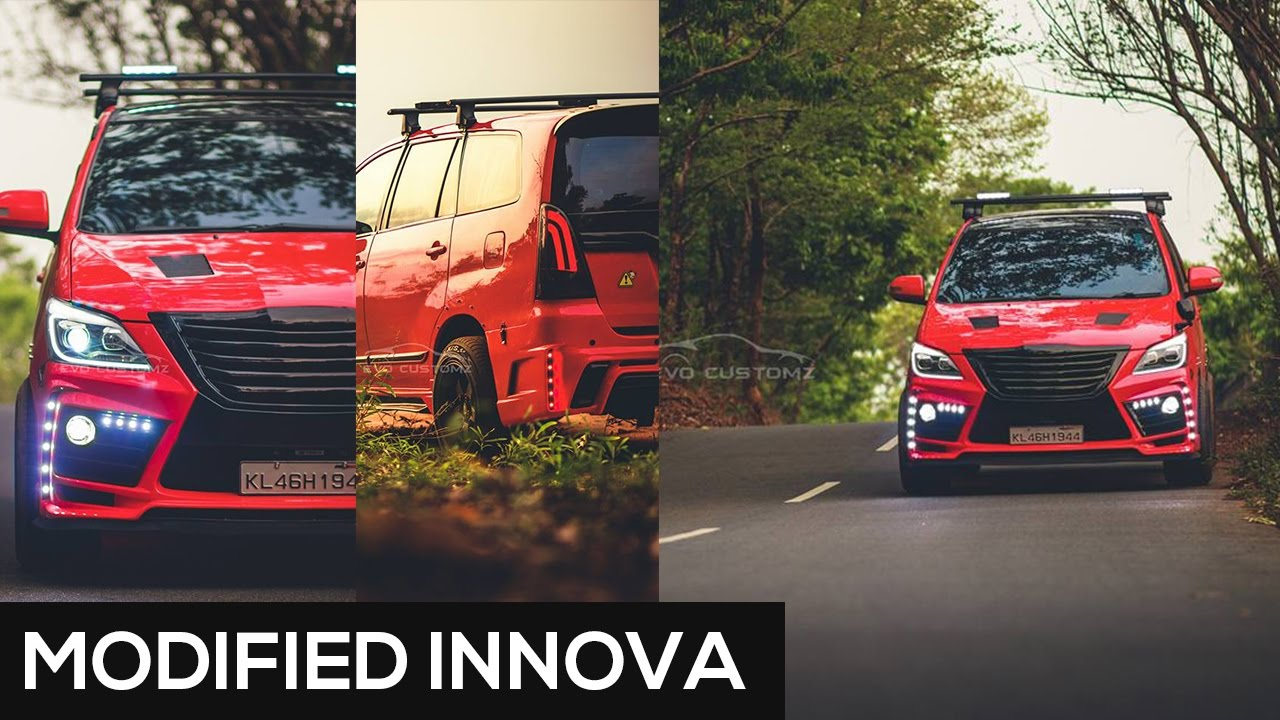 modified innova best modified cars in india amp kerala youtube