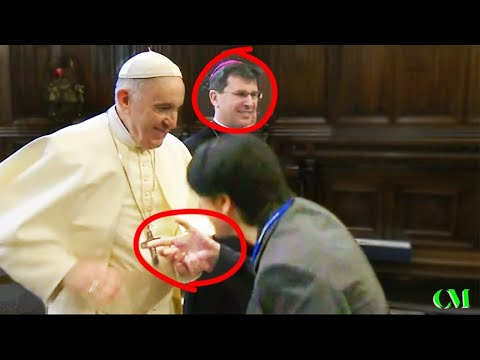 Pope Francis FORCEFULLY STOPS EVERYONE Who Tries To Kiss His Ring