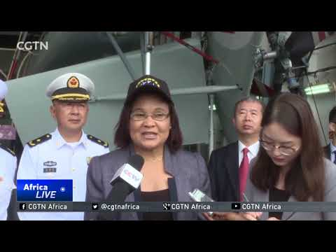 Chinese hospital ship, the Peace Ark docks in Mozambique