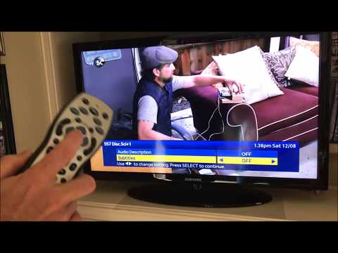 How to Turn Subtitles ON & OFF on SKY TV