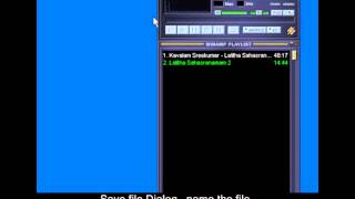 convert to mp3 file using winamp