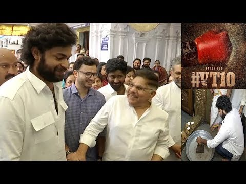 #VT10 movie opening   Varun Tej Allu aravind new movie Opening   Friday poster