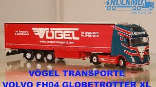 Tekno Modelle - Vögel Transporte Volvo FH04 Globetrotter XL Planenauflieger 70487 Lkw Modell TRUCKMO