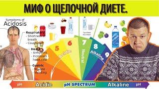 Миф о закислении организма. Щелочная диета и ацидоз. Кислотный баланс организма.