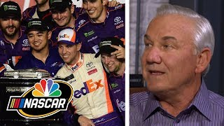 Teamwork drove Denny Hamlin, Joe Gibbs Racing in Daytona | NASCAR | Motorsports on NBC