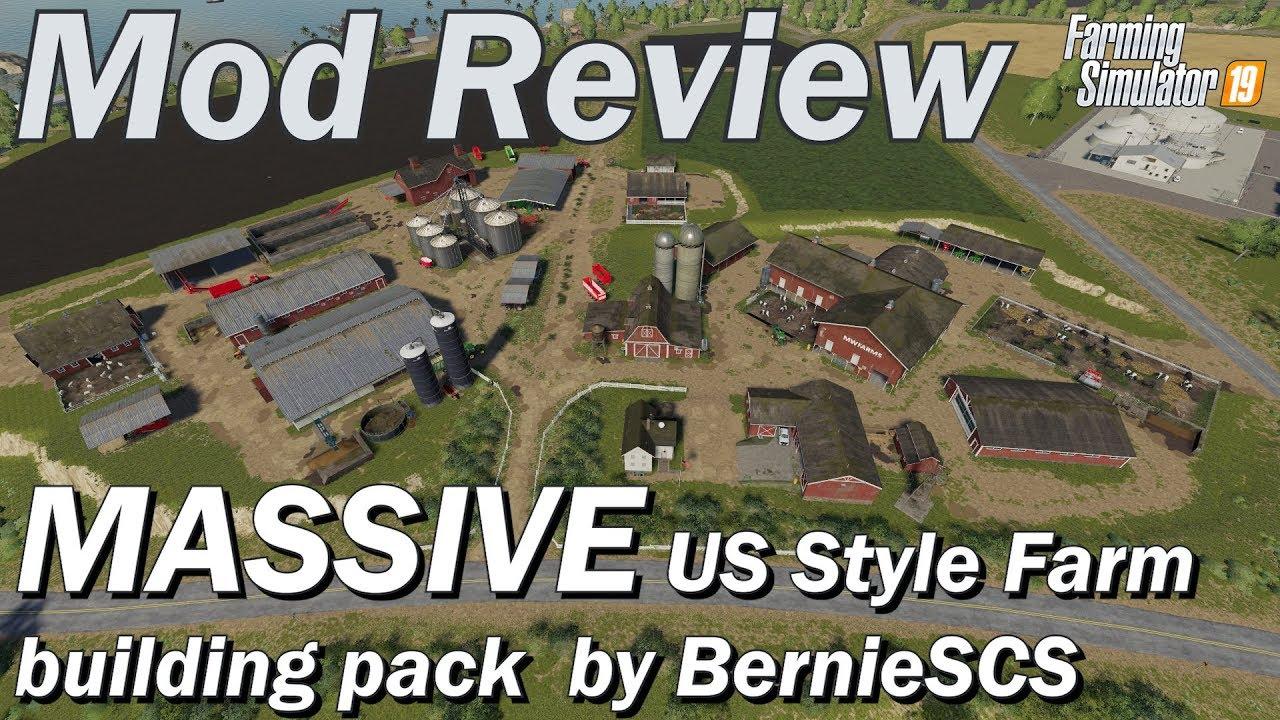 Mod Review - Massive US Style Farm Building Pack by BernieSCS