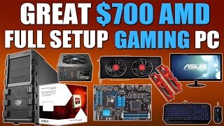 Great $700 AMD Full Setup 1080p Gaming PC (Includes KBM, OS and Monitor!)
