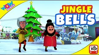 Jingle Bells with MOTU PATLU I Christmas Carol I Animated Nursery songs with WowKidz Rhymes