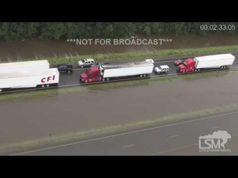 8-13-16 Central Louisiana Aerial Flood Footage