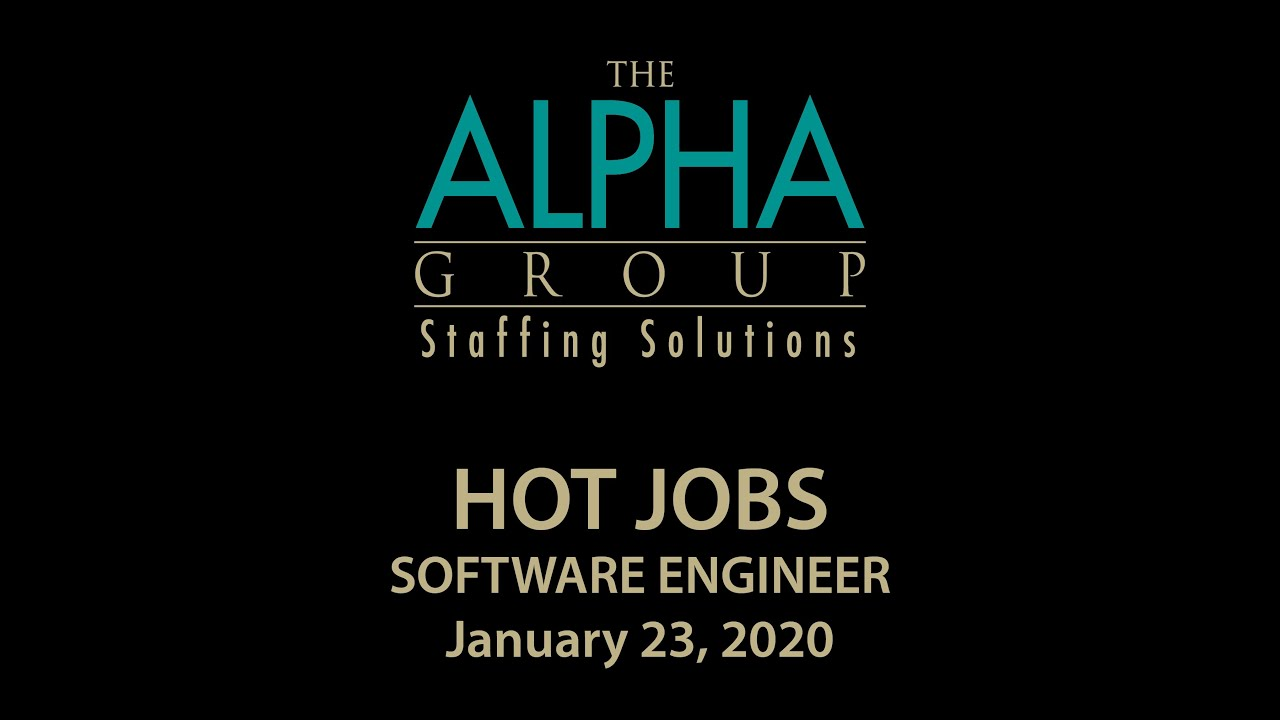 Alpha Hot Jobs Software Engineer 1-27-2020