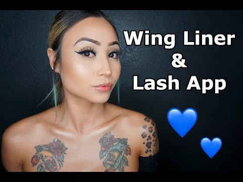Wing Liner and Lash Application Tutorial