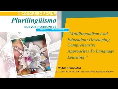 Intervención de  Ana Maria Stan. EU Commission, DG EAC, school and multilingualism, Brussels.