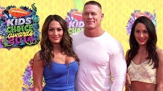John Cena and The Bella Twins appear at the 2014 Nickelodeon Kids Choice Awards: March 30, 2014