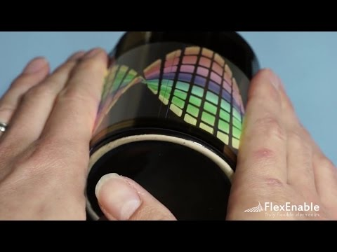 FlexEnable Demos, Organic LCD, Flexible OLED, Rollable OLED