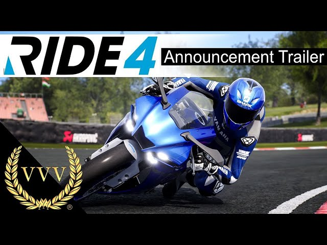 Ride 4 Announcement Trailer and screen shots
